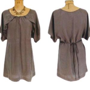 Anthropologie Moulinette Soeurs Silk Cape Dress 6